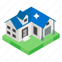 city home, cottage, hut, modern house, urban home, villa icon