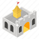 castle, citadel, fastness stronghold, fort, fortress icon