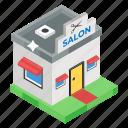barbershop, beauty parlor, hair salon, lounge, parlour, salon icon