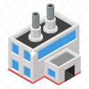 cooling tower, factory, mill, nuclear plant, power plant, power station, powerhouse icon