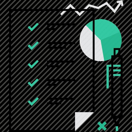 agenda document list planning schedule sheet task icon