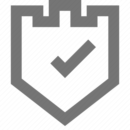 check, material, on, protection, scanned, security, verified icon