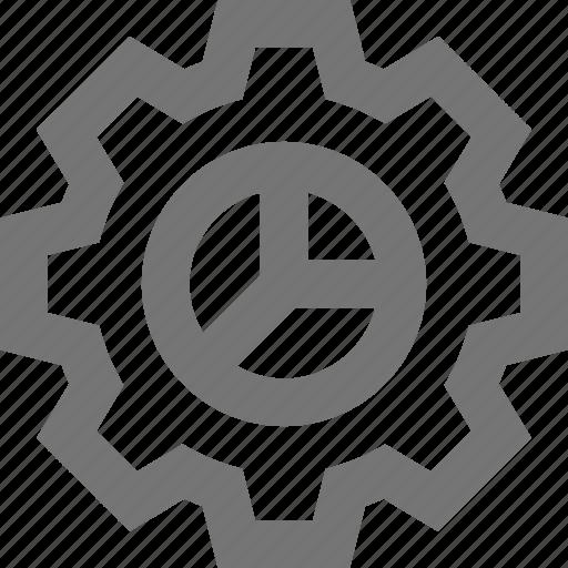 business, development, gear, management, material, process icon