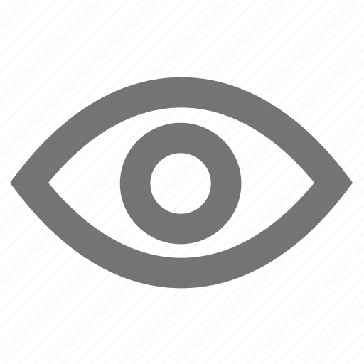 control, eye, material, outline, surveillance, video, visibility icon