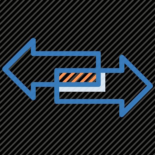arrows, data share, directional arrow, left arrow, right arrow icon