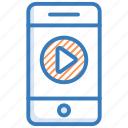 chatting, media message, mobile, video conversation, video message icon