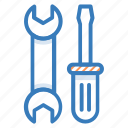 hammer, handyman, repair tools, spanner, wrench icon
