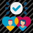 match, matching, dating icon