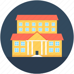 building, college, real estate, school, university icon