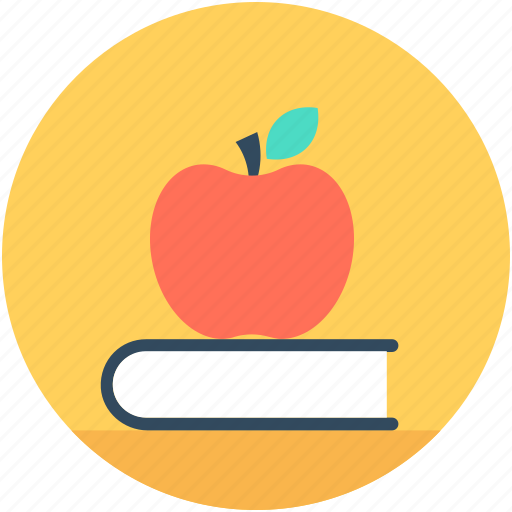 apple, books, education, learning book, reading icon