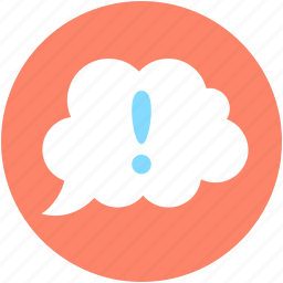 chat, error, speech bubble, thinking, thought bubble icon
