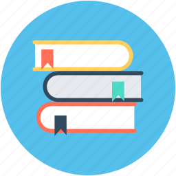 book stack, bookmark, books, knowledge, reading icon
