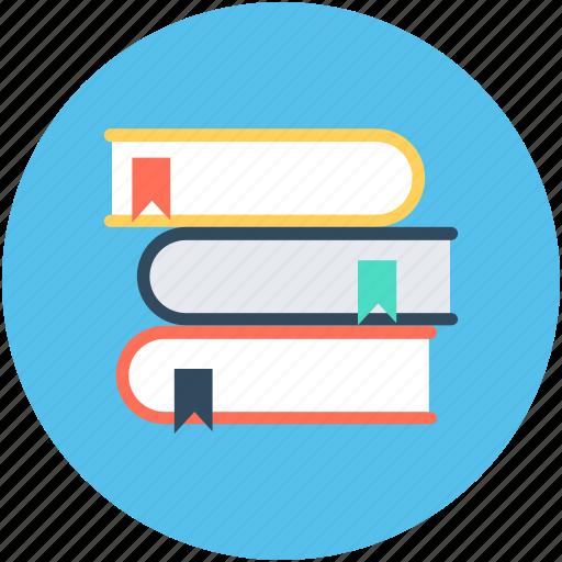 book stack bookmark books knowledge reading icon