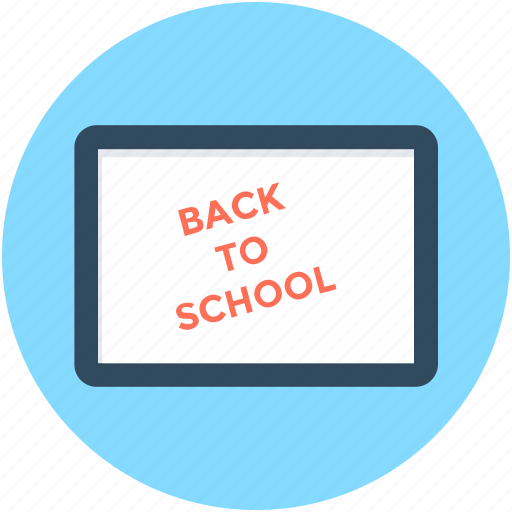 back to school, classroom, education, school, whiteboard icon