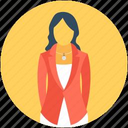 classroom, female teacher, professor, teaching, tutor icon