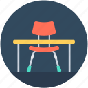 desk, furniture, office desk, student desk, study desk icon