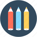 color pencils, crayons, pencils, stationery, write icon