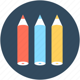 color pencils, crayons, pencils, stationery, write icon