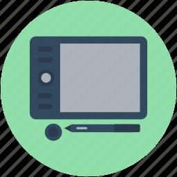 digital art board, digital drawing tablet, digitizer, graphic tablet, pen tablet icon