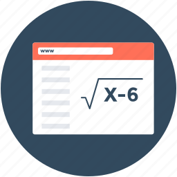 algebra formula, mathematical sign, mathematics, root of x, square root icon