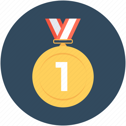 First place, first position, medal, position medal, prize icon - Download on Iconfinder