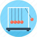 executive ball clicker, newton balls, newton cradle, physics, science icon