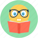 cartoon, education, knowledge, reading, studying icon