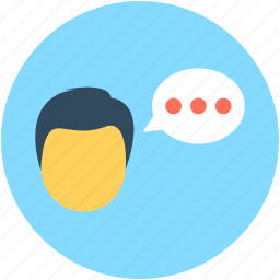 chat balloon, communication, speaking, talking, user icon