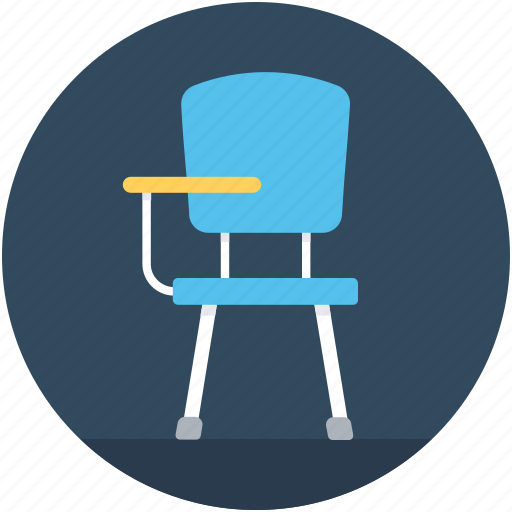 chair, classroom chair, computer chair, desk chair, student chair icon