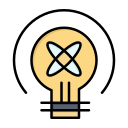 bulb, education, idea, light icon