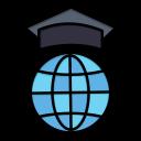 globe, graduation, internet, online icon