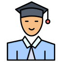 education, graduate, learning, student icon