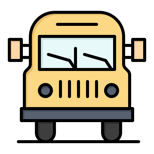 education, truck, van, vehicle icon