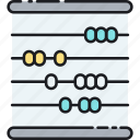 abacus, calculating tool, calculation, math icon
