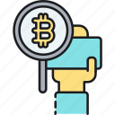 bitcoin, blockchain, byte, crypto, cryptocurrency, digital money, virtual currency icon