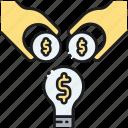 crowdfunding, indiegogo, kickstarter, project backing icon