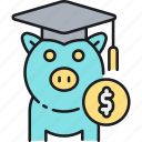 college funds, education funds, education savings, student loan, study loan icon