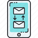 email communication, email conversation, email transfer, messaging icon