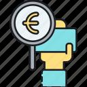 eu currency, eur, euro, european icon