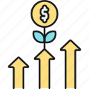 growth, increasing profit, increasing revenue, increasing sales, profit growth, revenue growth, sales growth icon