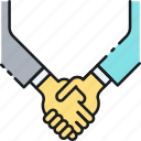agreement, cooperation, deal, handshake, partnership, shaking hands icon