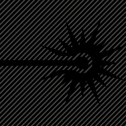 beam, gun, laser, light, plasma, ray, weapon icon