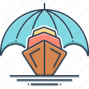 boat, boat insurance, insurance, lifebuoy, marine, transport icon