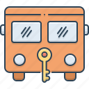 bus, bus protection, insurance, protection, safety, transportation icon
