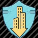 accommodation, condo, condo insurance, condominium, insurance, mortgage icon