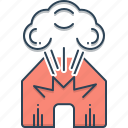 bomb, dynamite, explosion, fire, fireworks, smoking icon