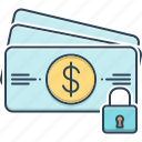 card, padlock, payment, payment protection, protection icon