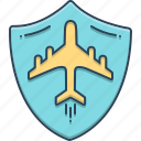 airplane, insurance, protection, travel, travel insurance icon