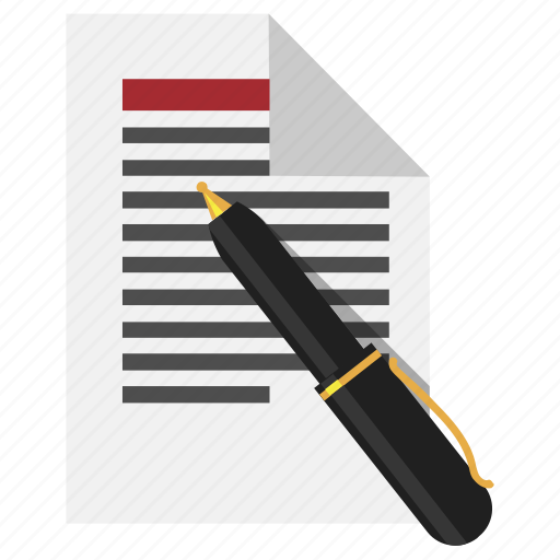 document, pen, text, write icon