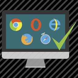 browser, crossbrowser, imac, monoblock icon